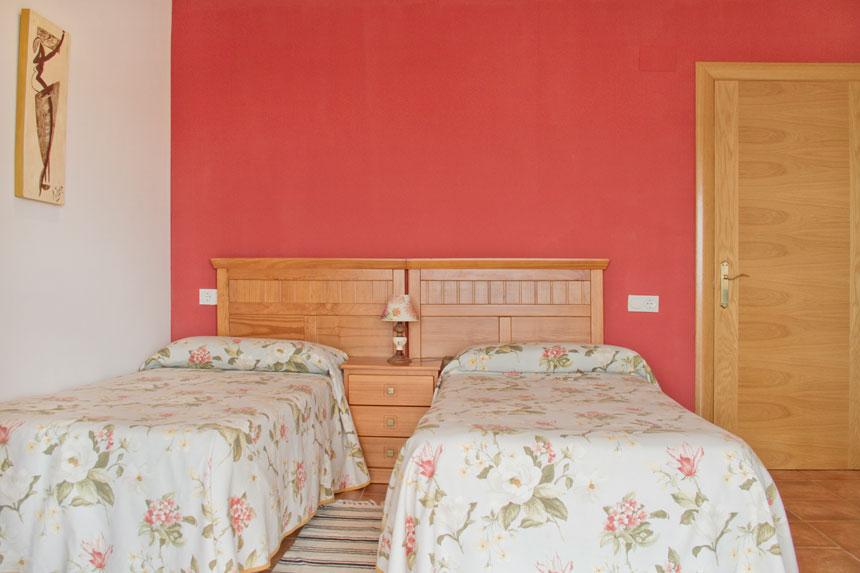 Apartamento Topineres. Habitación de dos camas